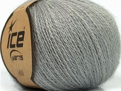 Silk Grey  Fiber Content 50% Silk, 40% Merino Superfine, 10% Kid Mohair, Brand Ice Yarns, Grey, Yarn Thickness 1 SuperFine  Sock, Fingering, Baby, fnt2-37003 Rosalie, Lana, Silk, Fiber, Composition, Cashmere, Gray, Projects, Cotton