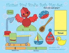 Baby Bird Bath Playset
