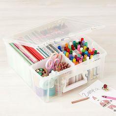 The Container Store: Storage, Organization & Custom Closets Kids Art Storage, Toy Storage Boxes, Desk Storage, Craft Storage, Storage Ideas, Creative Storage, Office Storage, Deep Drawer Organization, Tote Organization
