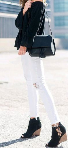 perfect black and white outfit