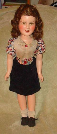 "1930's VINTAGE DEANNA DURBIN 21 INCH IDEAL TOYS COMPOSITION DOLL ACTRESS 21""   #Dolls"
