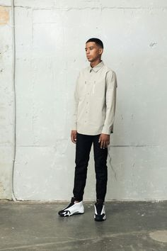 BERKHAN Right grey color zip pocket shirt black trainning jomgger pants