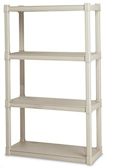 Sterilite Premium Heavy Duty 4-Shelf Storage Unit With Tubular Construction, 2015 Amazon Top Rated Standing Shelf Units #Home