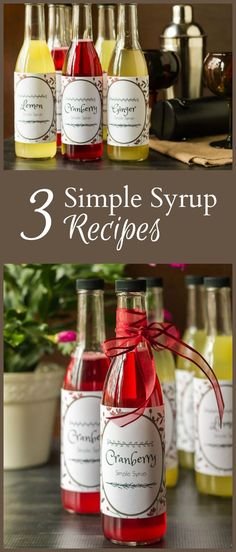 Simple syrup recipes are easy to create and make a wonderful gift for anytime of year. Perfect for cocktails or natural flavored sodas, toppings for dessert and more. #Cocktail #homemade #drinkrecipe