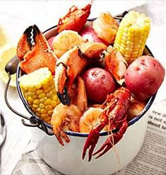 Turn your traditional backyard barbecue into a party to remember by hosting a seafood boil. For more entertaining ideas, visit P&G everyday today! Seafood Boil Party, Seafood Boil Recipes, Seafood Dishes, Fish And Seafood, Fish Recipes, Seafood House, Fresh Seafood, Lobster Boil, Lobster Fest