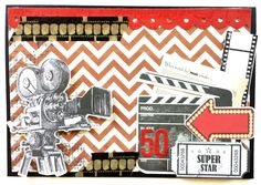 Kaisercraft : On Stage Collection : 50th Birthday Card by Amanda Baldwin