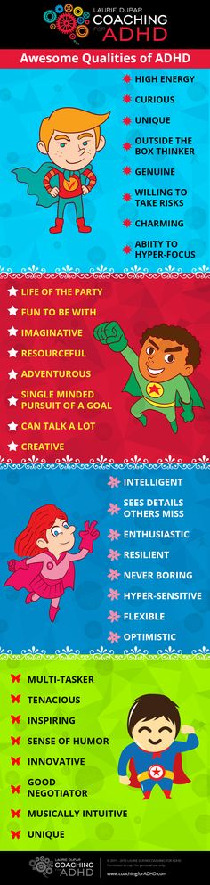 31 Awesome Qualities of ADHD...I try to remember these when my son frustrates me.