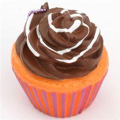 brown icing orange purple base cupcake squishy charm cellphone charm kawaii 2