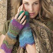 Noro Magazine..... wrist warmers.. I guess these are knitted, but...
