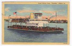 Car Ferry Boat Westside Algiers Louisiana 1953 Linen Postcard | eBay Ferry Boat, Navy Ships, Ship Art, Great Lakes, Louisiana, New Orleans, Diesel, Electric Car, Painting
