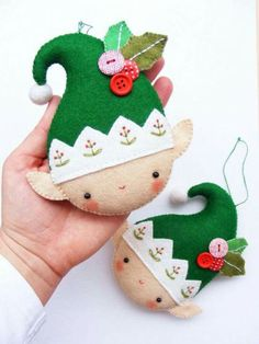 Felt elf diy idea