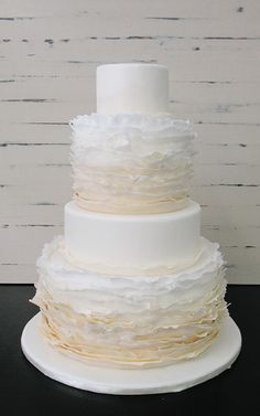 Exactly what I want for the cake! This looks beach ready! The ombre effect is beautiful; I am thinking in Peach!