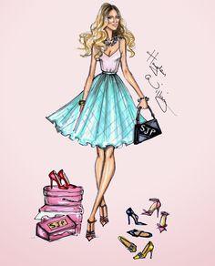 Hayden Williams Fashion Illustrations: SJP by Hayden Williams