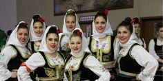 Folk costumes - Serbia..Beautiful Serbian girls.