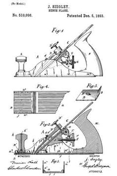 #510,096 - Bench Plane (Jacob Siegley) (1893)