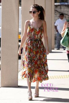 Selena Gomez wears Free People, McFadin Fringe while out and about in Los Angeles.