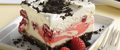 Ice cream desserts needn't be fussy. This one's a snap, with berries blended with ice cream and sorbet then chilled in a crushed-cookie crust.