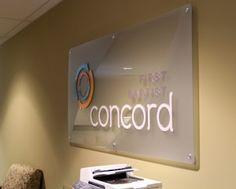 Concord FBC Acrylic Sign #wayfinding #signage