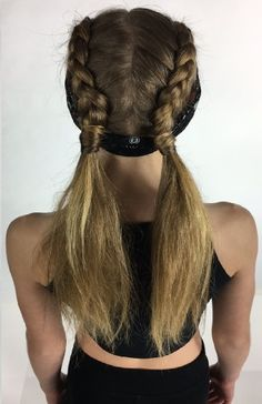 A Dancewear Solutions model hairdo! Perfect for hip-hop.