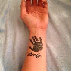 Tattoo-my sons handprint