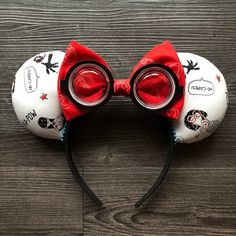 Incredibles, No Capes, Pixar, Disney Ears, Mouse Ears - Mickey Ears! Disney Ears Headband, Diy Disney Ears, Disney Headbands, Disney Mickey Ears, Disney Bows, Disney Diy, Ear Headbands, Disney Crafts, Mickey Ears Diy