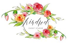 loving our new logo.  Calligraphy & Watercolor by  Flourish & Whim.  // Kindred Event Studio