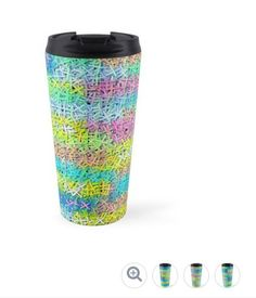 Take your #coffee to go with a colorful #travelmug. #coffeeplease #coffeeshop @redbubble  http://www.redbubble.com/people/cocodes/works/23594259-a-pile-of-colorful-joy?asc=u&p=travel-mug&rel=carousel