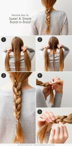 How to Chic: SWEET AND SIMPLE BRAID IN BRAID