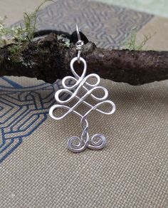 Little Celtic Tree  Pendant Sterling Silver Tree of Life Wire
