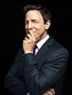 """Seth Meyers. From """"We'll Do it Late."""" January 13, 2014 issue. Photo Marco Grob."""