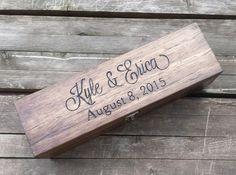 Personalized wine box wedding wine box love letter by arrowsarah