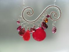 Lustrous Lea Red Gemstone Necklace Red Quartz by BellaBerlinJewels