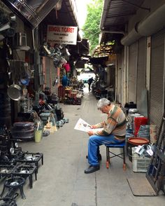 One block away from the tourist market. Istanbul.
