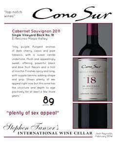 #ConoSur Cabernet Sauvignon 2011- 89 points - Stephen Tanzer's International Wine Cellar