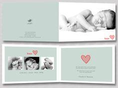 """individuell Foto Geburtskarte Klappkarte Babykarte """"Louis"""" - ein Designerstück von Wolkenpost-de bei DaWanda"""