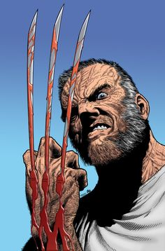 """comicblah: """" Steve McNiven is one of my favorite penciller. This is from Old Man Logan. #SNIKT """""""
