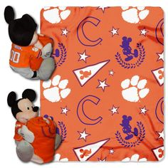Use this Exclusive coupon code: PINFIVE to receive an additional 5% off the Clemson Tigers Mickey Mouse Hugger with Throw at SportsFansPlus.com