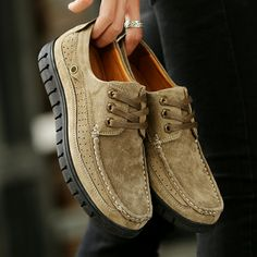 >> Achetez ici << Prelesty Steampunk Style Marque Hommes Plate-Forme Casual Chaussures Hiver Main En Cuir Suédé Haute Qualité Zapatos Hombres