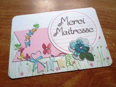 Carte Merci Maîtresse Maître - fin d'année - Merci : Cartes par card-bubble