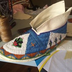 Pow Wow Photos – PowWows.com » » getting there.. so ready for GON. #beadwork #native #nativeamerican #newdancegear #mocs #gatheringofnations...