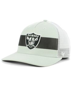 697d01edd83  47 Brand Oakland Raiders Team Stripe Mvp Cap - Gray Adjustable