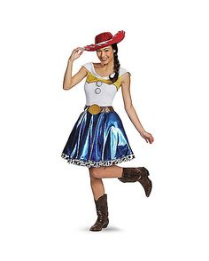 Jessie Dress Adult Womens Costume - Giddy up in the Officially Licensed Jessie Dress Adult Women's Costume. As one of the most sought after toys in the World, you'll be a hot commodity t Jessie Toy Story Costume, Jessie Costumes, Toy Story Costumes, Disney Costumes, Girl Costumes, Costumes For Women, Halloween Town, Halloween Costumes, Cowgirl Outfits
