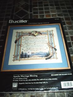 New 1996 Bucilla Kooler Counted Cross Stitch Kit APACHE MARRIAGE BLESSING 41335 #Bucilla