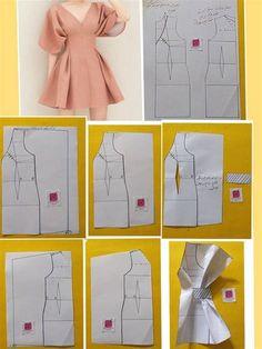 Fashion Sewing, Diy Fashion, Ideias Fashion, Diy Clothing, Sewing Clothes, Sewing Coat, Doll Clothes, Dress Sewing Patterns, Clothing Patterns