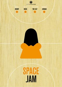 LCArts Film Lounge presents Space Jam poster, Daffy Duck edition.