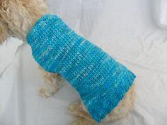 Simple dog sweater knitting pattern - PDF, small dog sweater