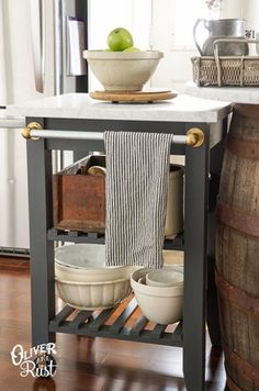 This round-up of 18 fabulous DIY Ikea Hacks will blow your mind! - Ikea DIY - The best IKEA hacks all in one place Ikea Kitchen Cart, Ikea Cart, Diy Kitchen, Kitchen Decor, Kitchen Helper, Kitchen Hacks, Ikea Trolley, Island Kitchen, Basic Kitchen
