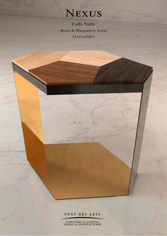 Nexus Coffee Table - Designer MONZER Hammoud - Pont des Arts Studio - Paris