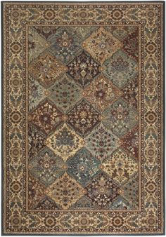 Rizzy Home BV3199 Bellevue Power Loomed Polypropylene Rug Multi 7 3/4 x 10 3/4 Home Decor Rugs Rugs