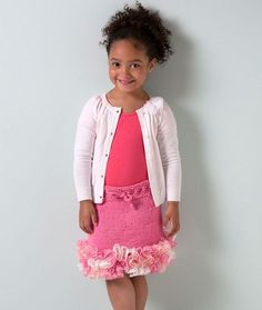 Girl's Ruffled Skirt Free Knitting Pattern from Red Heart Yarns